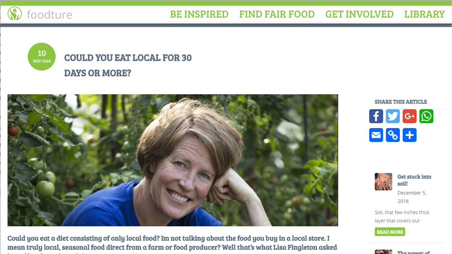 Foodture Article: Could you eat local for 30 days or more?
