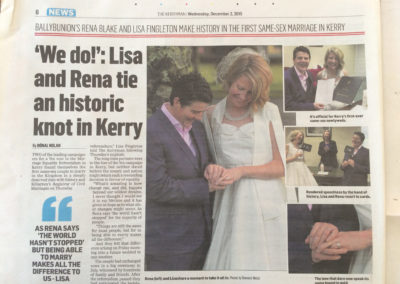 The Day we Counted, First Kerry Wedding Rena Blake and LIsa Fingleton