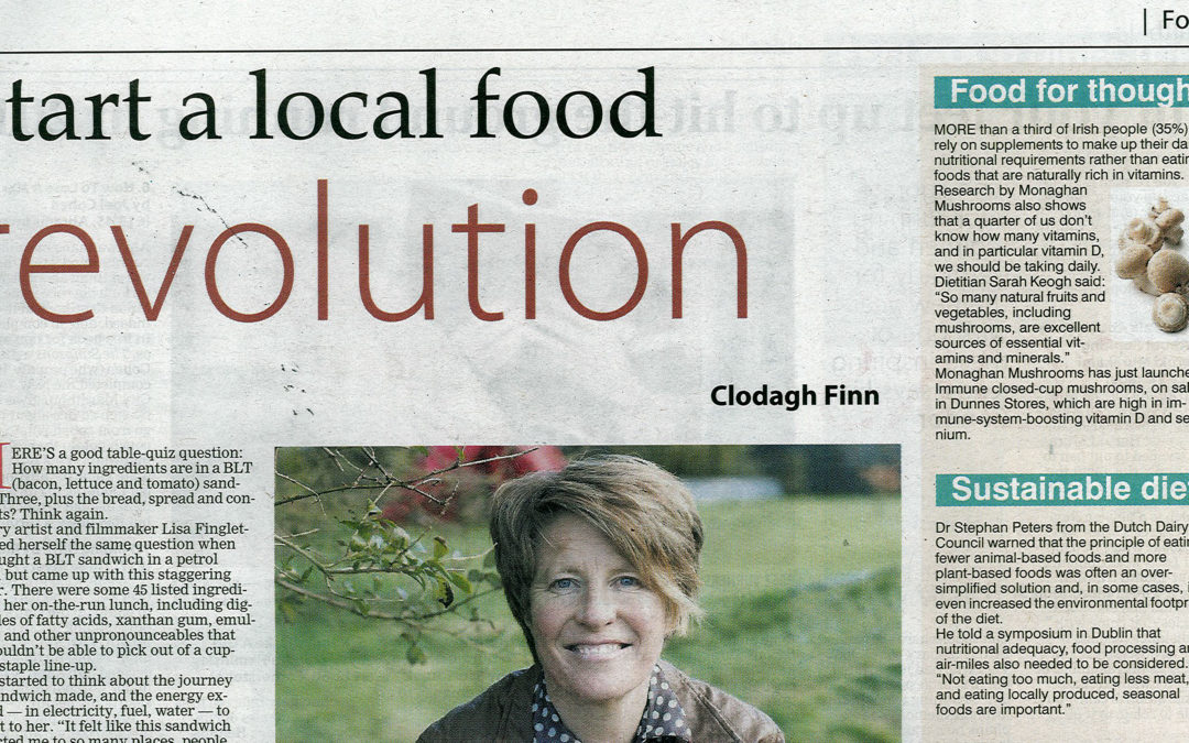 Irish Examiner: Food revolution – Filmmaker Lisa Fingleton's BLT moment