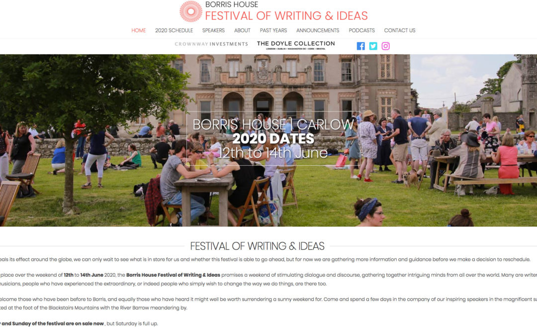 Borris Festival of Writing and Ideas 2020: Farming, Conservation and Art (Postponed)